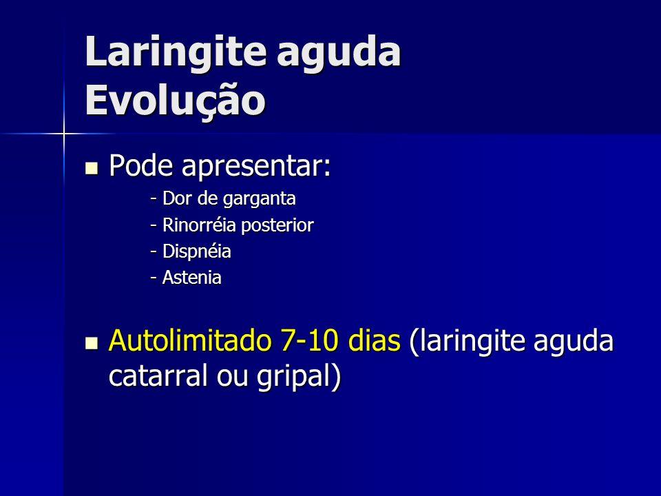 Laringite aguda Evolução