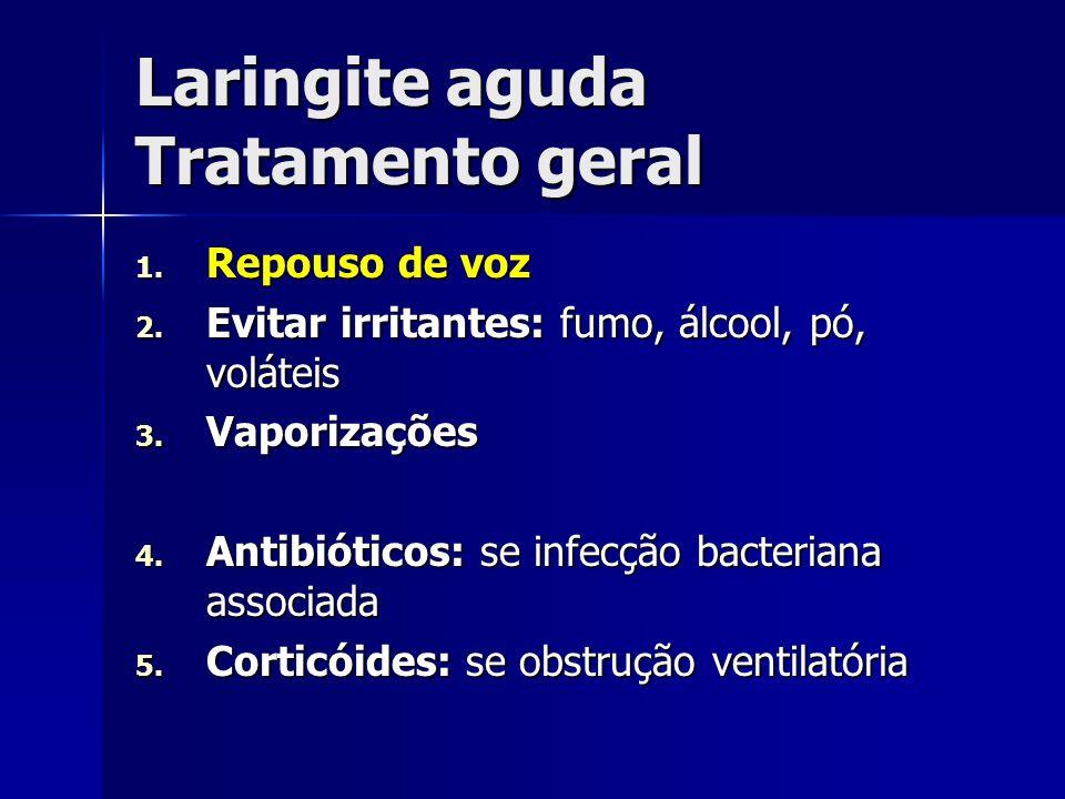 Laringite aguda Tratamento geral