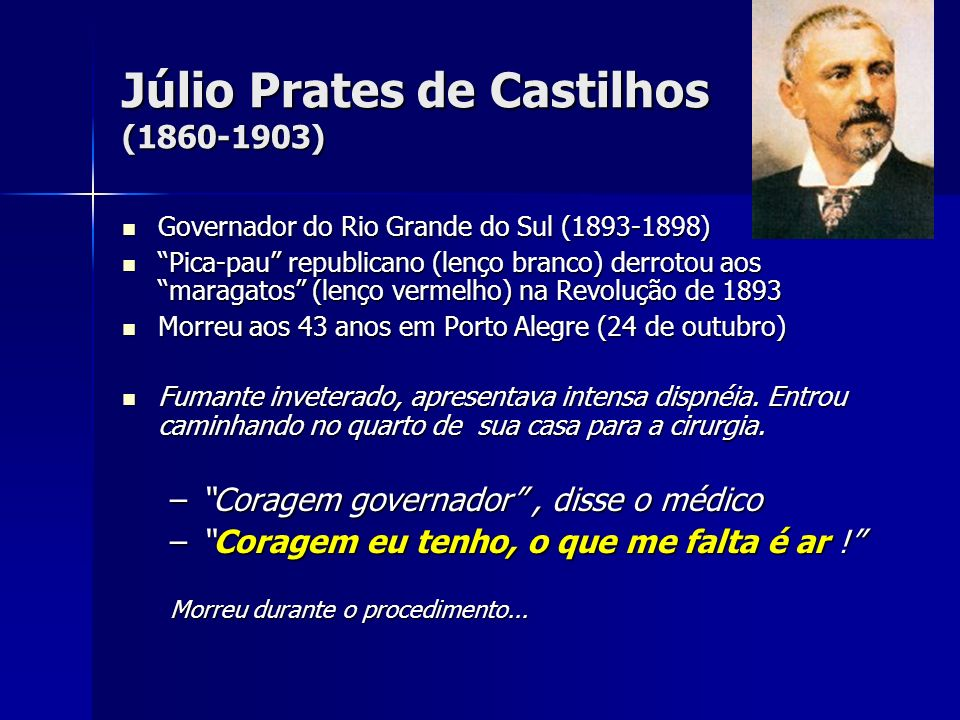 Júlio Prates de Castilhos (1860-1903)