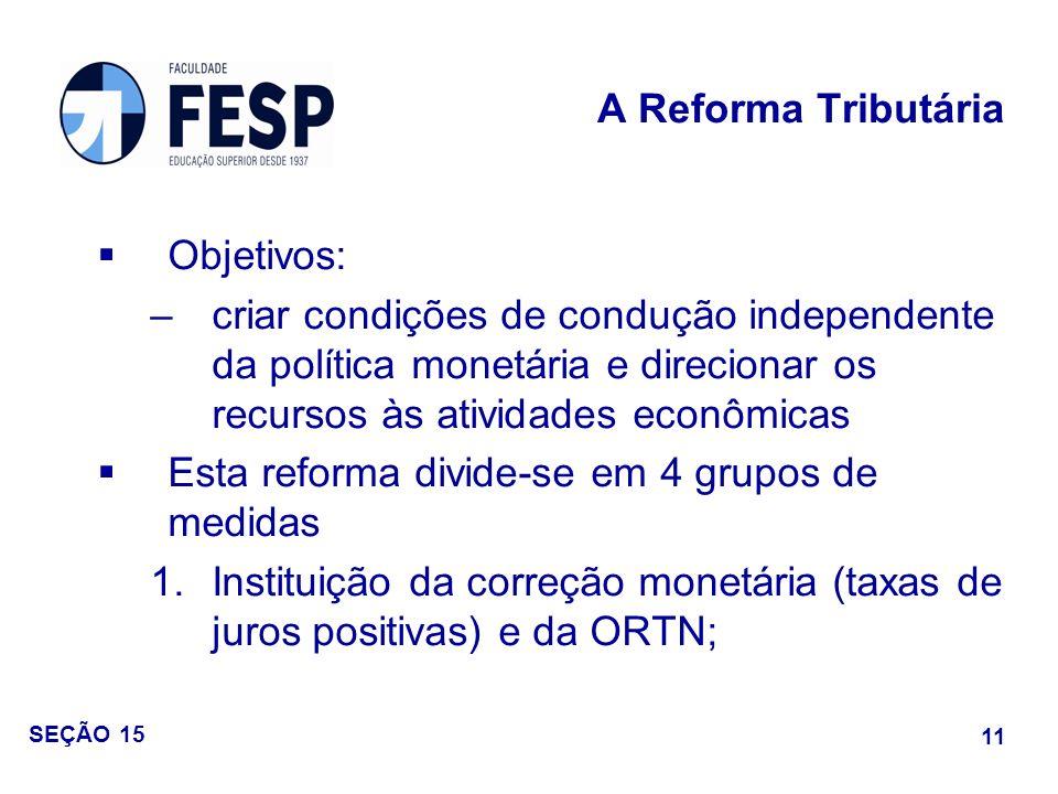Esta reforma divide-se em 4 grupos de medidas
