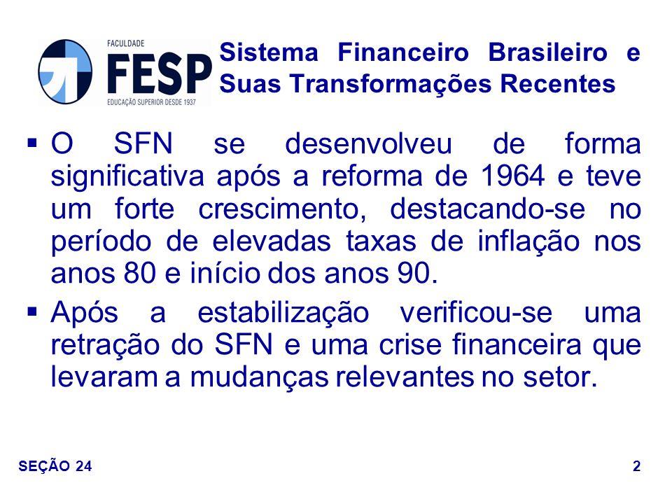 Sistema Financeiro Brasileiro e Suas Transformações Recentes