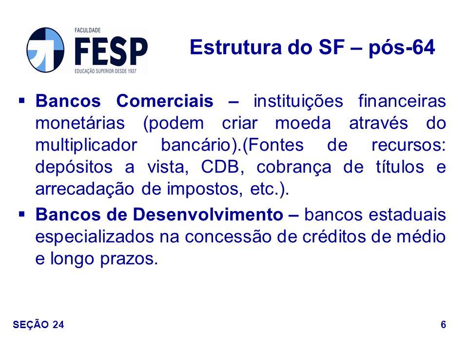 Estrutura do SF – pós-64