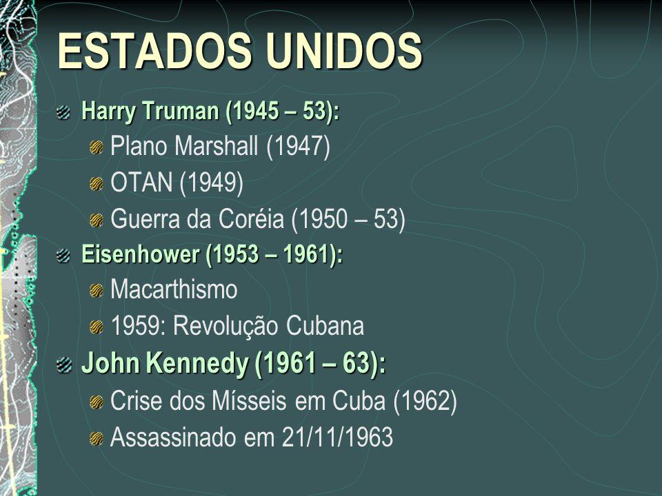 ESTADOS UNIDOS John Kennedy (1961 – 63): Plano Marshall (1947)