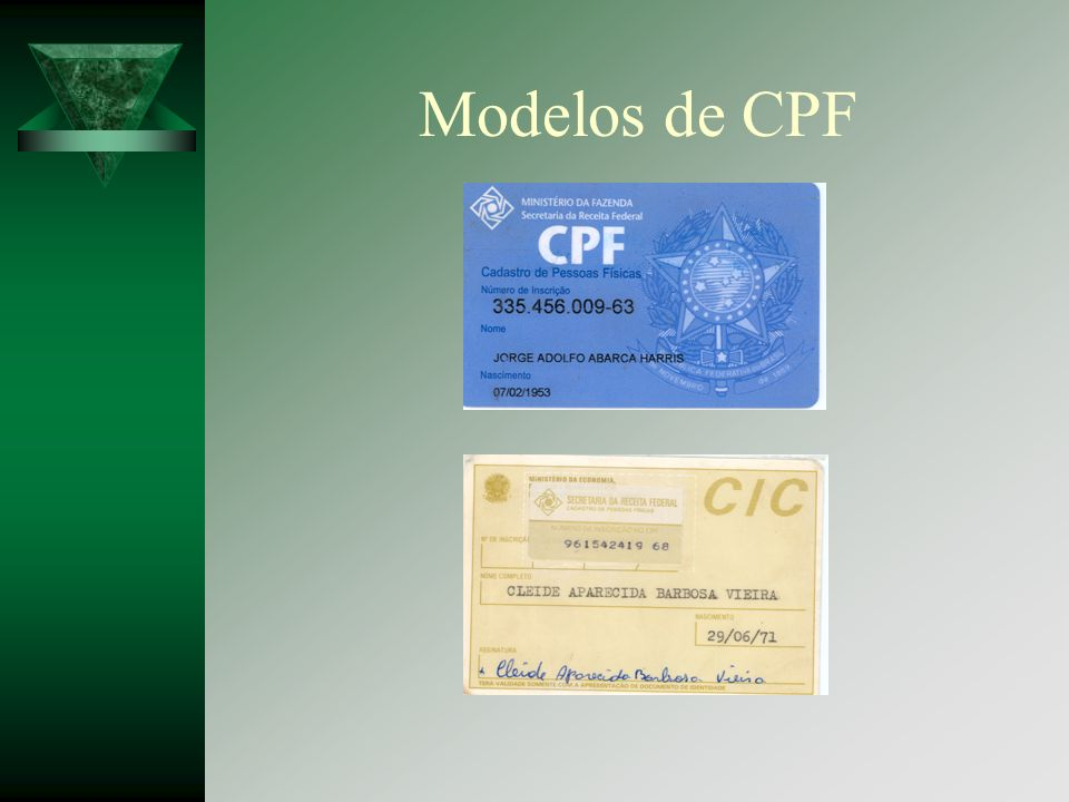 Modelos de CPF