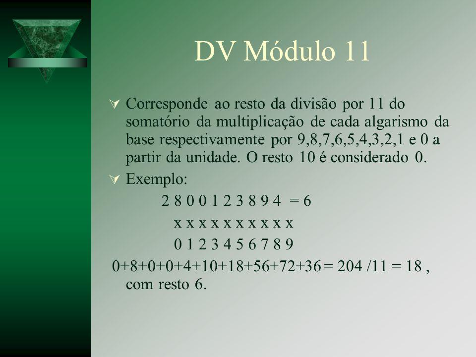 DV Módulo 11