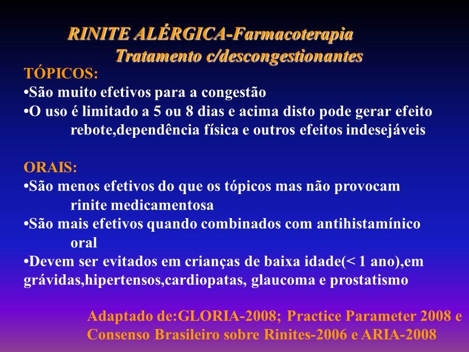 RINITE ALÉRGICA-Farmacoterapia Tratamento c/descongestionantes