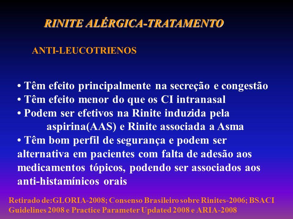 RINITE ALÉRGICA-TRATAMENTO