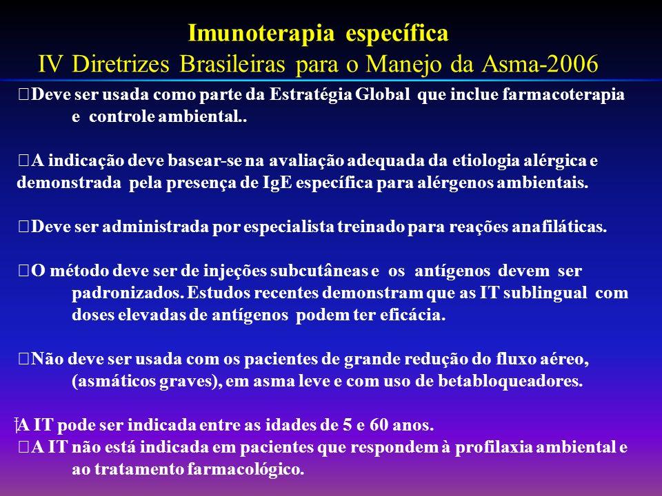 Imunoterapia específica IV Diretrizes Brasileiras para o Manejo da Asma-2006