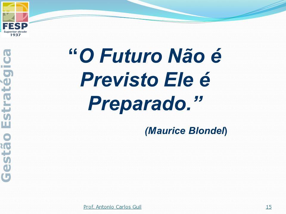 O Futuro Não é Previsto Ele é Preparado. (Maurice Blondel)