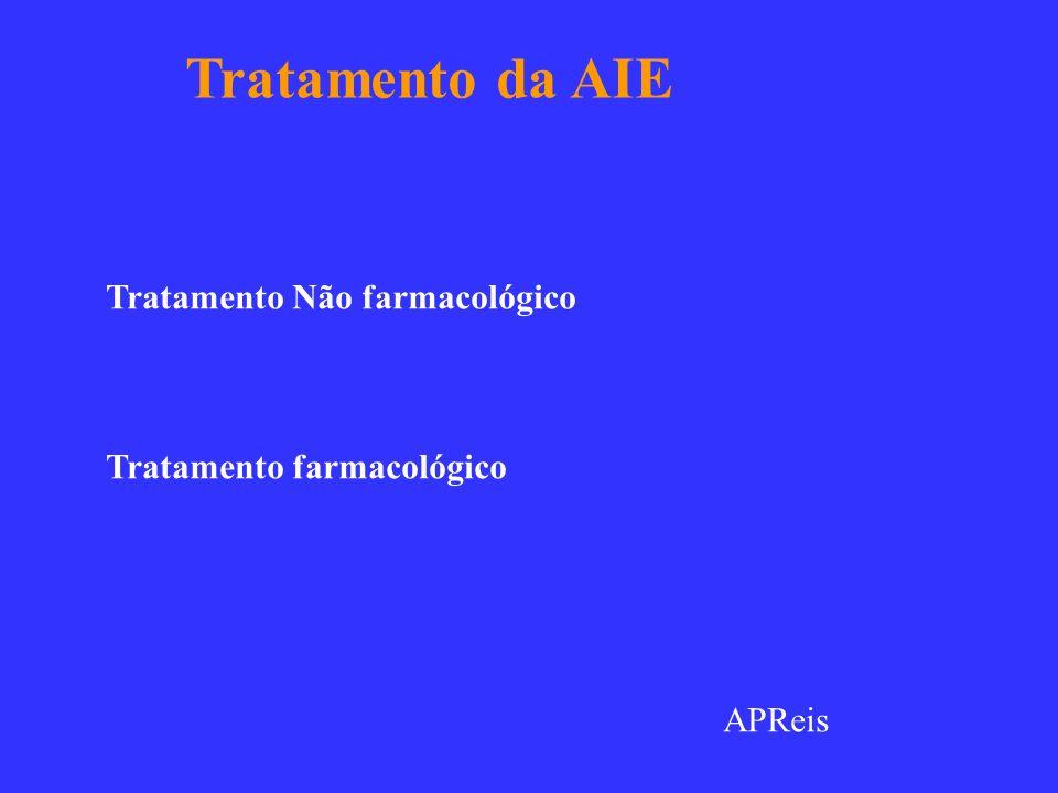 Tratamento da AIE Tratamento Não farmacológico
