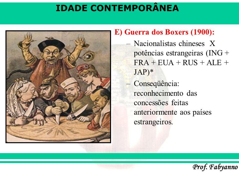 E) Guerra dos Boxers (1900):