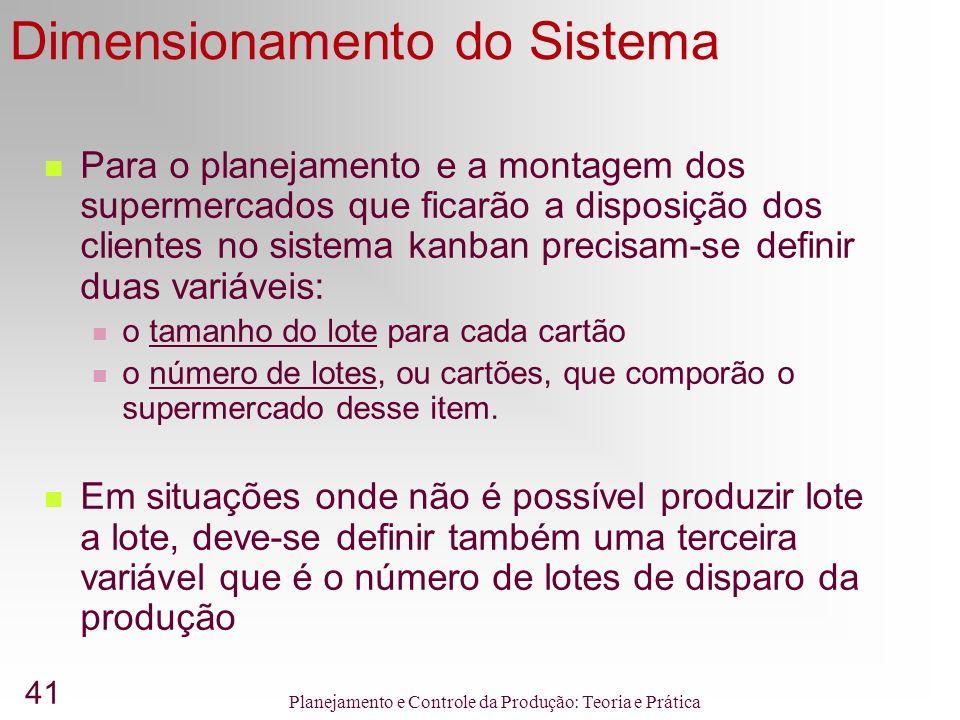 Dimensionamento do Sistema