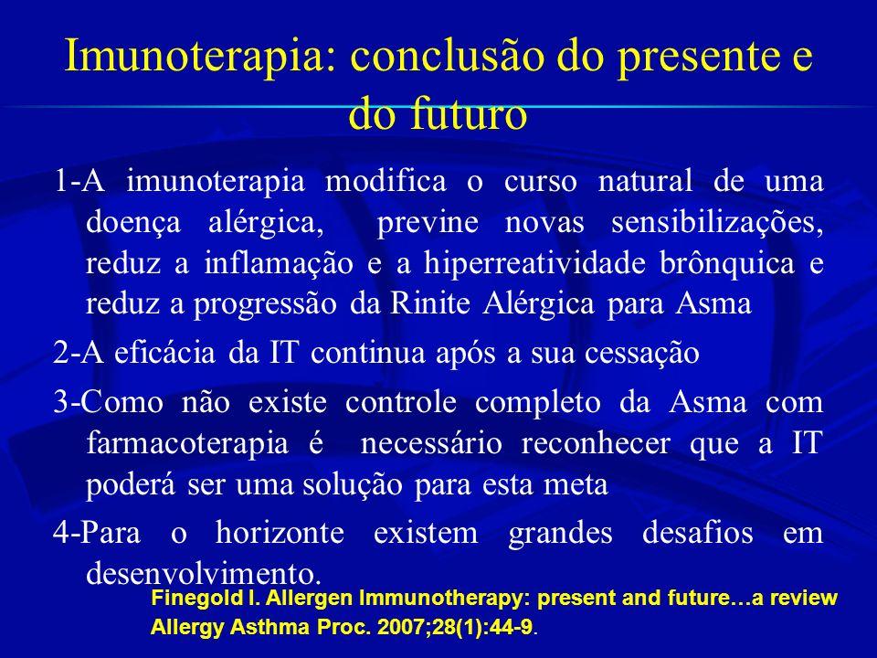 Imunoterapia: conclusão do presente e do futuro