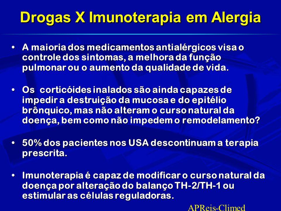 Drogas X Imunoterapia em Alergia