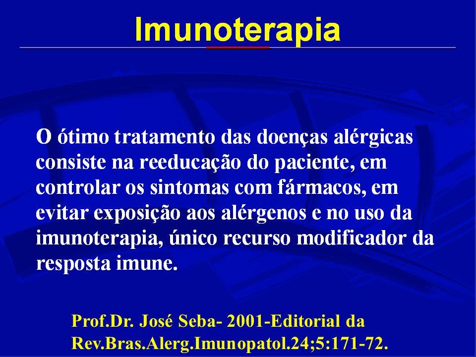 Prof. Dr. José Seba- 2001-Editorial da Rev. Bras. Alerg. Imunopatol