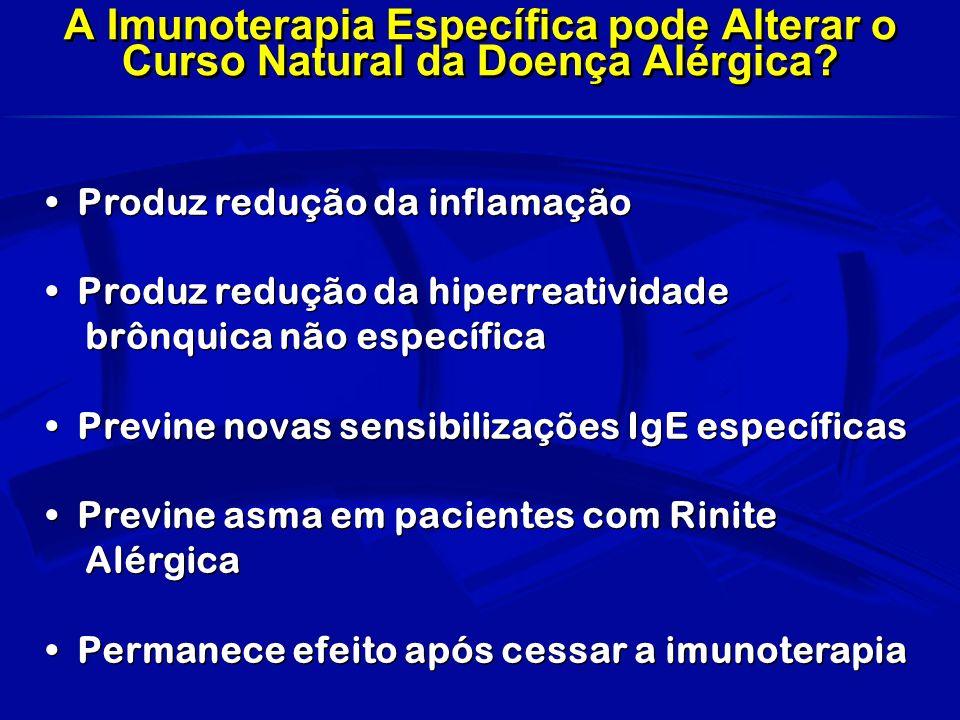 A Imunoterapia Específica pode Alterar o Curso Natural da Doença Alérgica