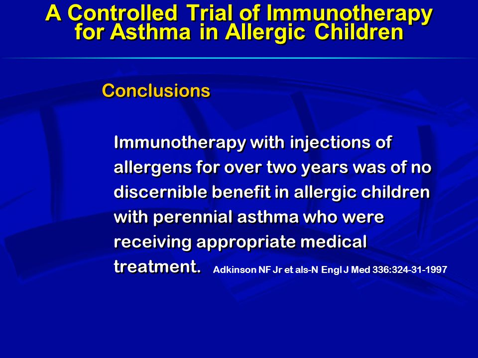A Controlled Trial of Immunotherapy for Asthma in Allergic Children