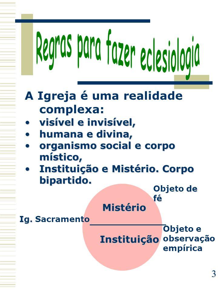 Regras para fazer eclesiologia