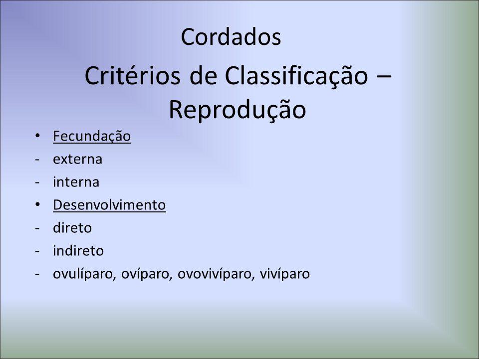 Critérios de Classificação –