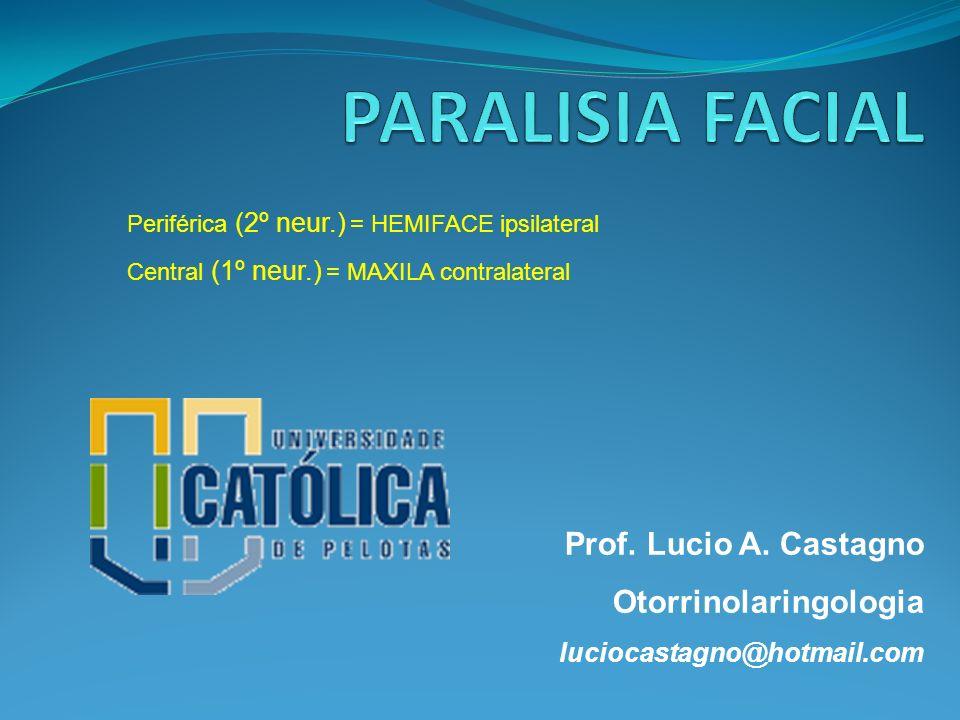 PARALISIA FACIAL Prof. Lucio A. Castagno Otorrinolaringologia