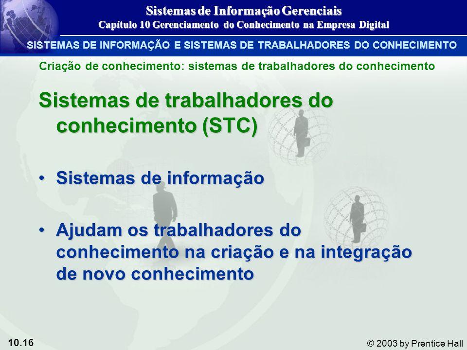 Sistemas de trabalhadores do conhecimento (STC)