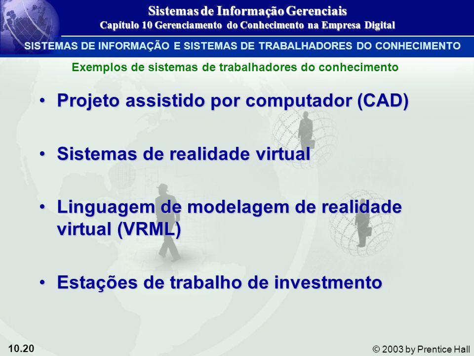 Projeto assistido por computador (CAD) Sistemas de realidade virtual