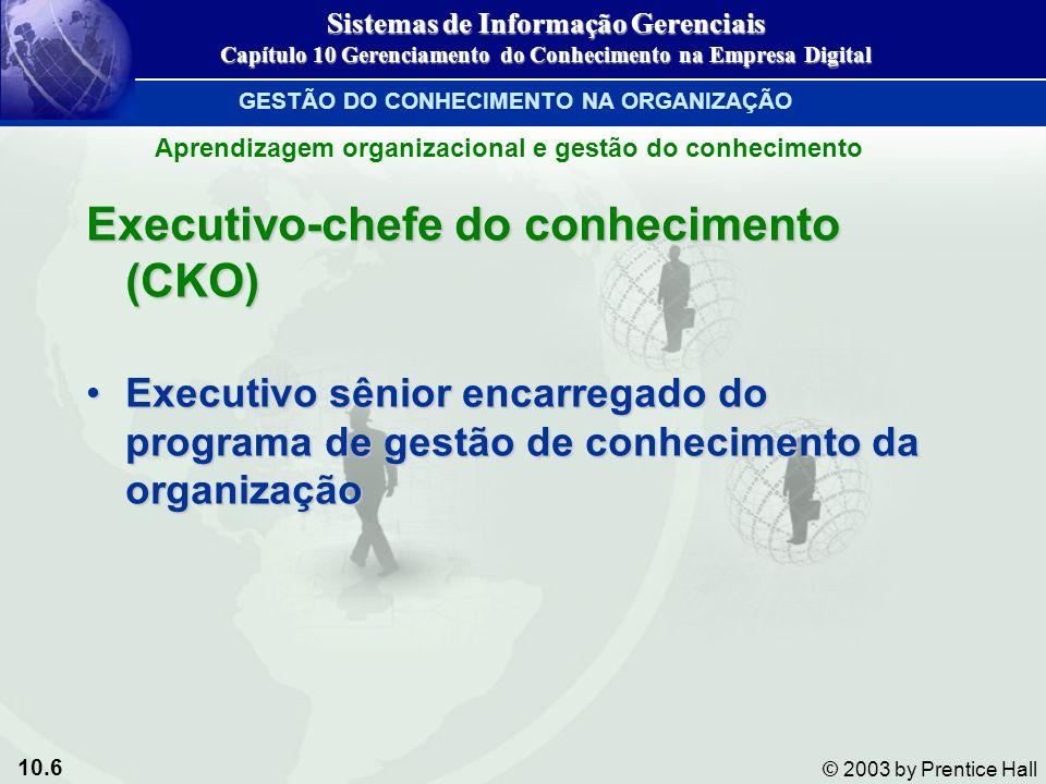 Executivo-chefe do conhecimento (CKO)