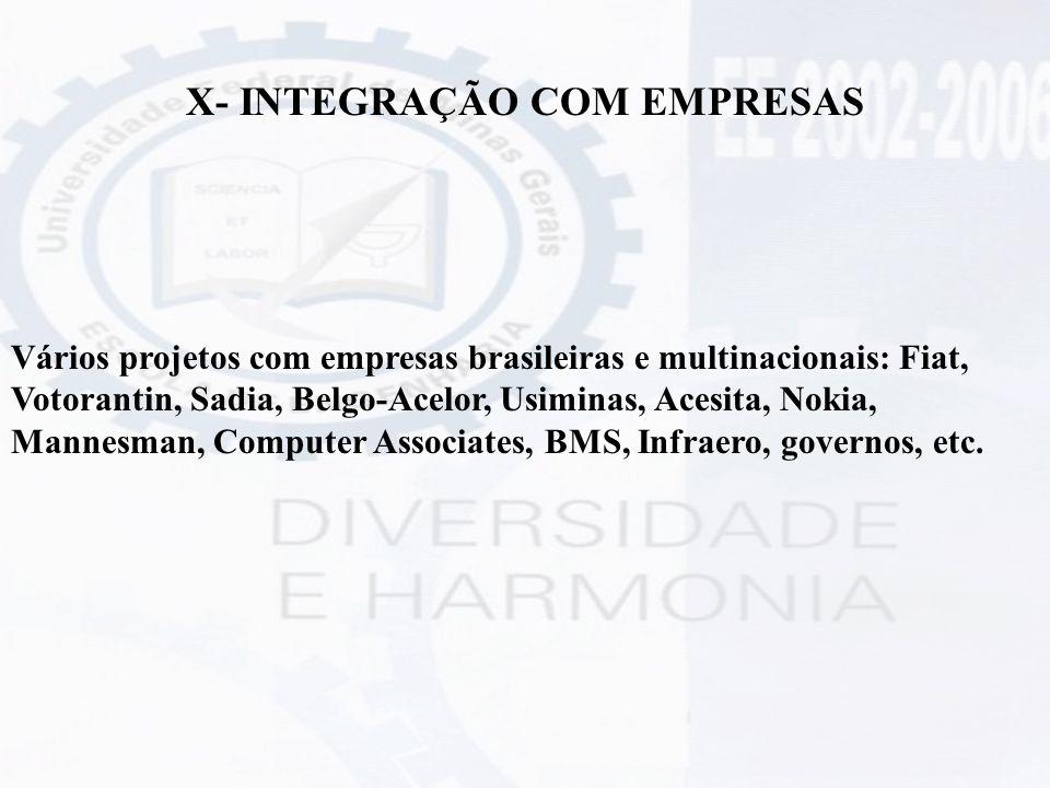 X- INTEGRAÇÃO COM EMPRESAS