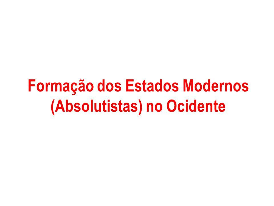 Formação dos Estados Modernos (Absolutistas) no Ocidente