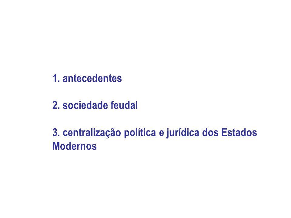 1. antecedentes 2. sociedade feudal 3