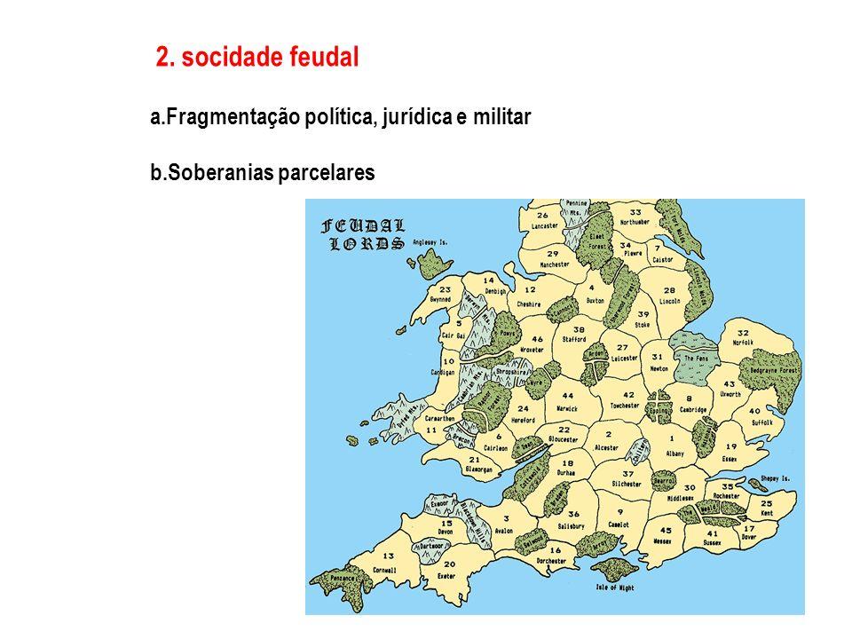 2. socidade feudal a. Fragmentação política, jurídica e militar b