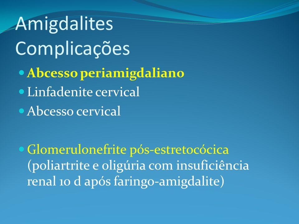 Amigdalites Complicações