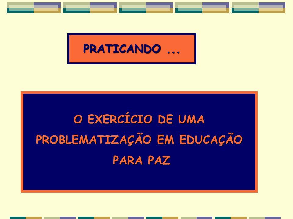 PROBLEMATIZAÇÃO EM EDUCAÇÃO