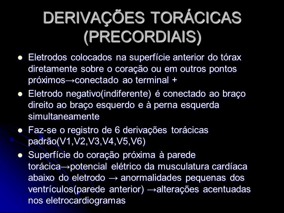 DERIVAÇÕES TORÁCICAS (PRECORDIAIS)