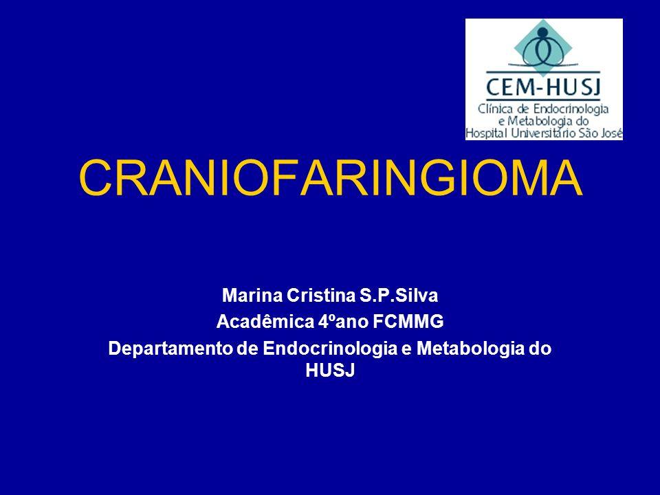 CRANIOFARINGIOMA Marina Cristina S.P.Silva Acadêmica 4ºano FCMMG
