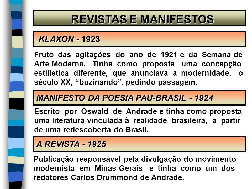 REVISTAS E MANIFESTOS KLAXON - 1923