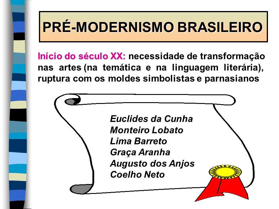PRÉ-MODERNISMO BRASILEIRO