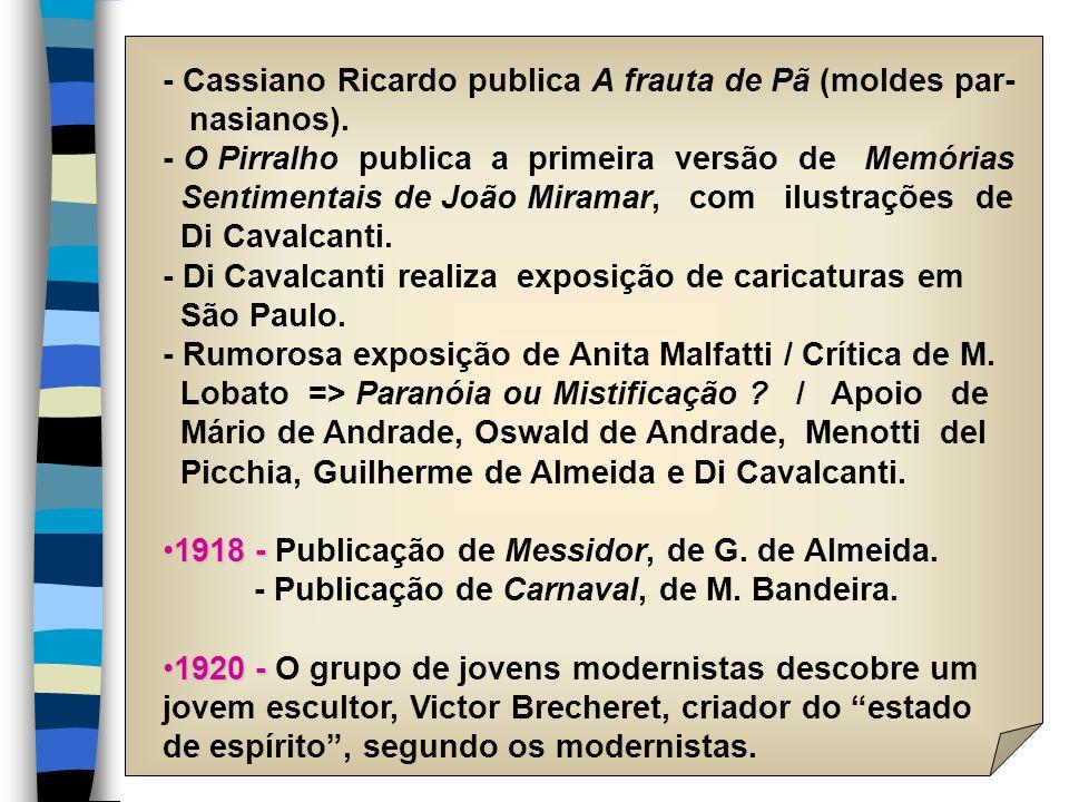 - Cassiano Ricardo publica A frauta de Pã (moldes par-