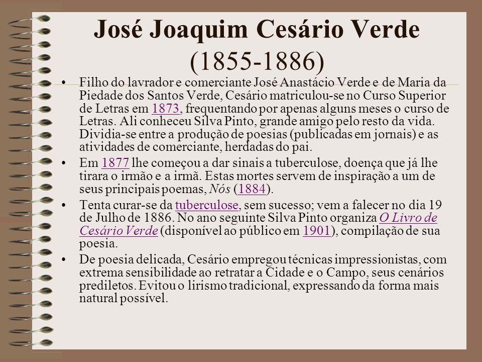 José Joaquim Cesário Verde (1855-1886)