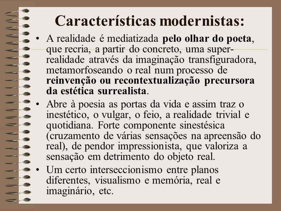 Características modernistas: