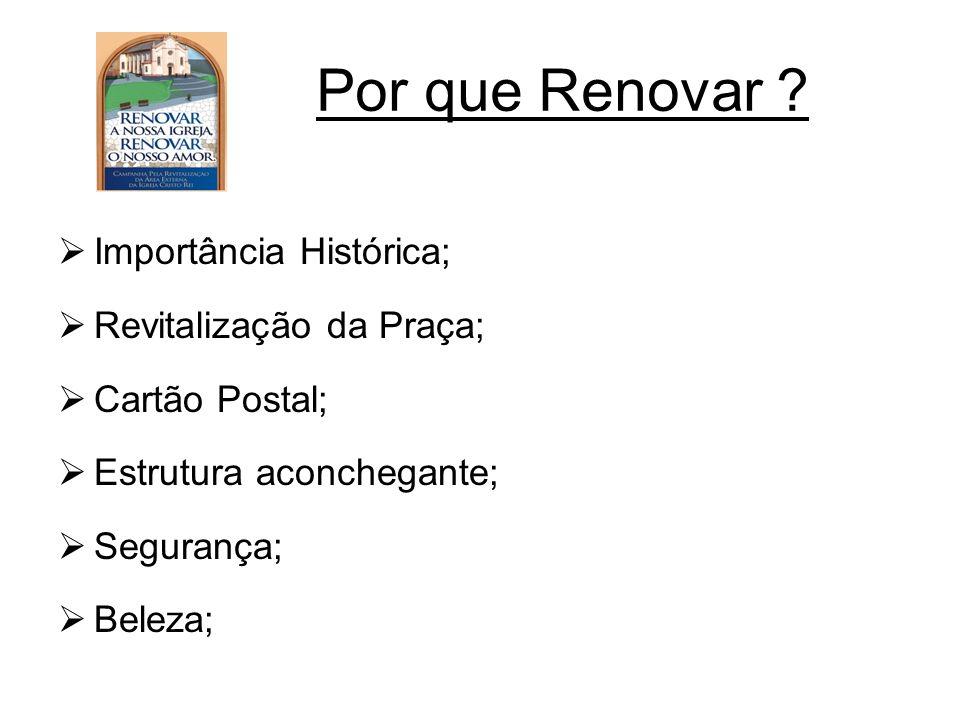 Por que Renovar Importância Histórica; Revitalização da Praça;