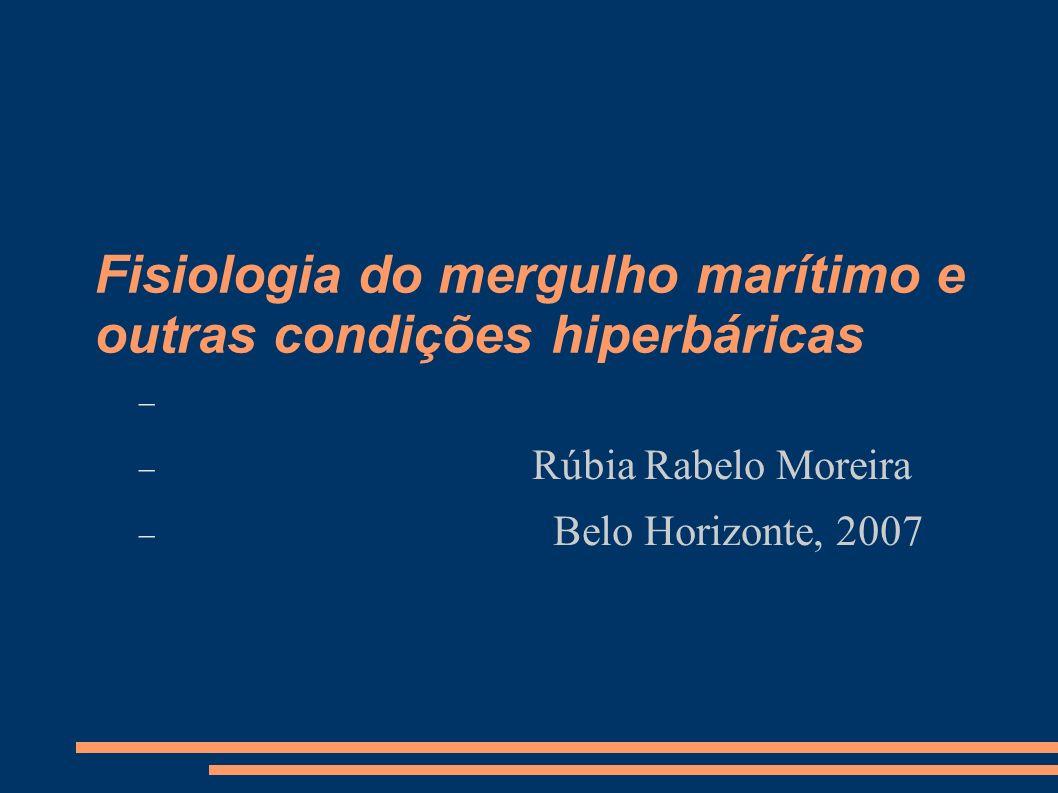 Fisiologia do mergulho marítimo e outras condições hiperbáricas