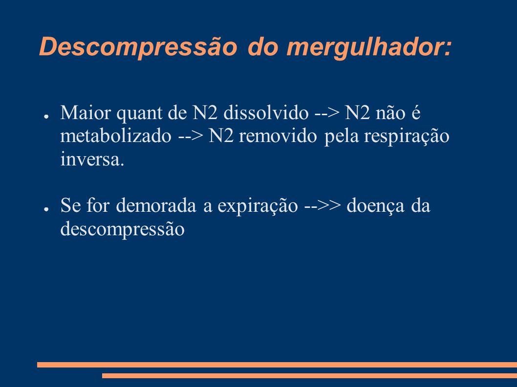 Descompressão do mergulhador: