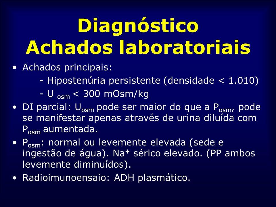Diagnóstico Achados laboratoriais