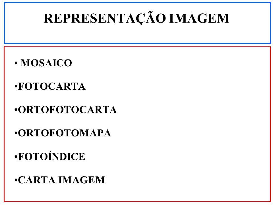 REPRESENTAÇÃO IMAGEM MOSAICO FOTOCARTA ORTOFOTOCARTA ORTOFOTOMAPA
