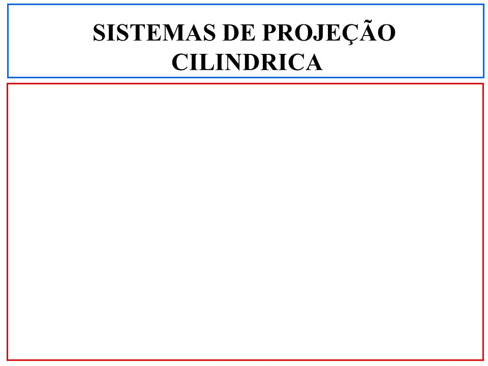 SISTEMAS DE PROJEÇÃO CILINDRICA