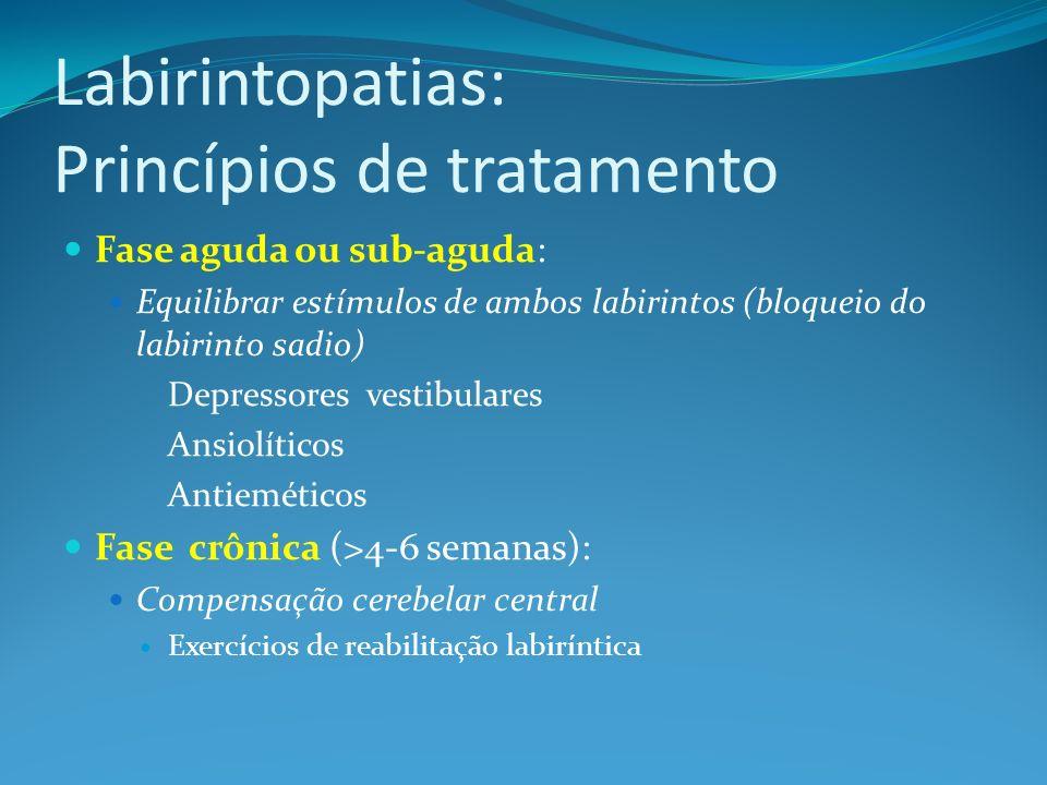 Labirintopatias: Princípios de tratamento