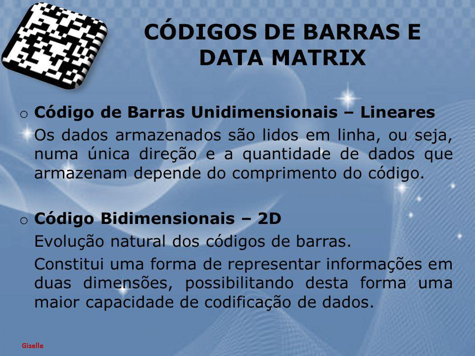 CÓDIGOS DE BARRAS E DATA MATRIX