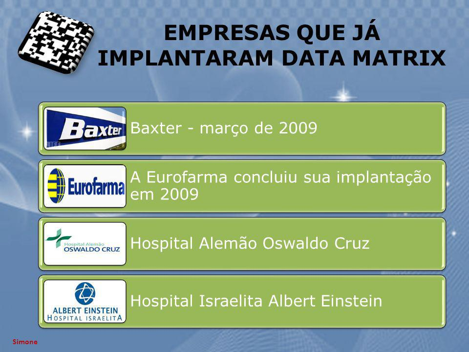 EMPRESAS QUE JÁ IMPLANTARAM DATA MATRIX