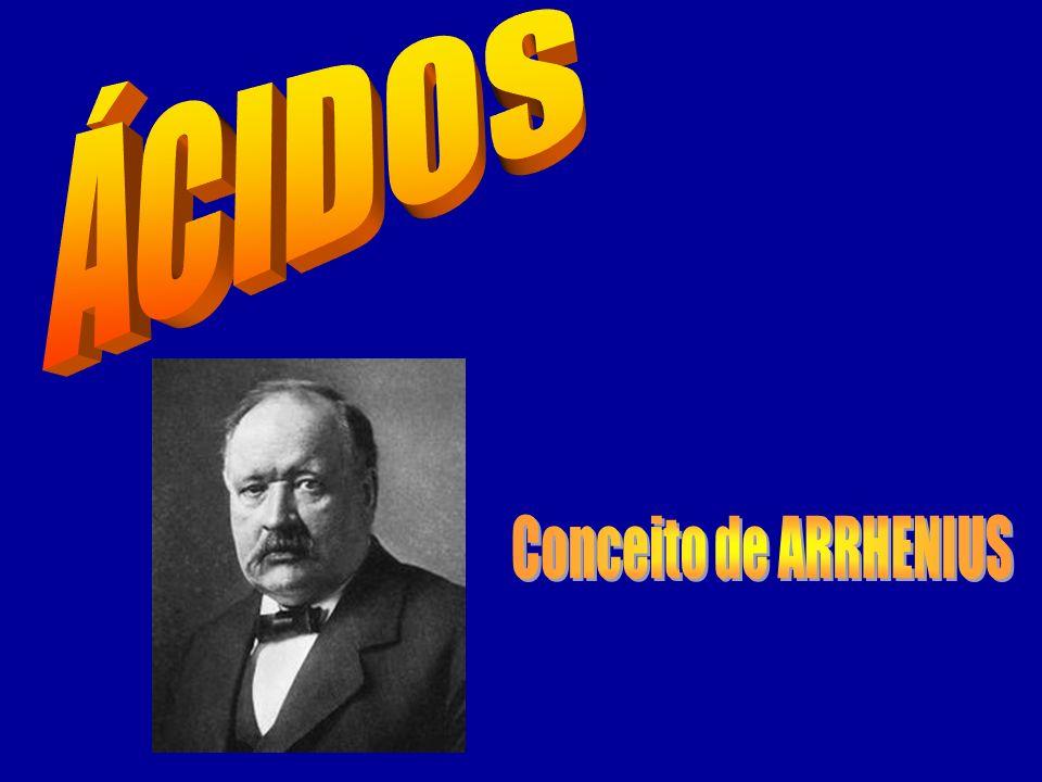 ÁCIDOS Conceito de ARRHENIUS
